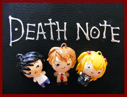 Chibi-Charms: Death Note Trio by MandyPandaa
