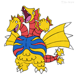 Daily Drawing 016 - King Ghidorah by tjg-12345