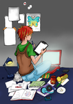 Lazy Afternoon Coloring by papillon88