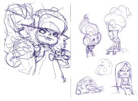 the roughs for zeoarts piece by Alberto-Rios
