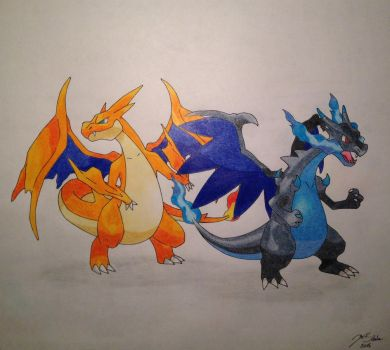Mega Charizards by Trooper1212