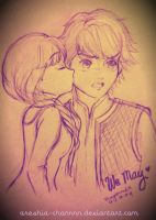 Kristoff and Anna *QUICK DOODLE* by areshia-channnn