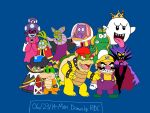 The Villains in the Mario Series by Fester1124