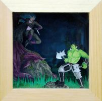 World of Warcraft Shadow Box Diorama by TheRelicHunter