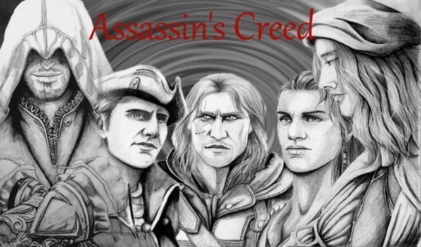 All Assassin's Creed Characters I've drawn so far. by MekaelMahariel13