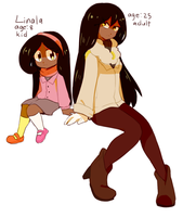 Linala as a kid and adult by MisterCakerz