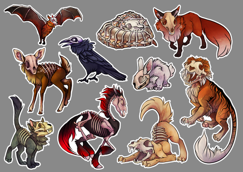 Skelenimals by CasyNuf