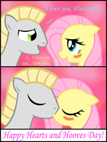 Yorkshire and Fluttershy's Hearts and Hooves Day by Dandric101