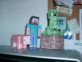 Minecraft Papercraft by Methvell