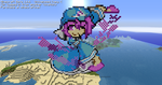 Minecraft Pixel Art Yuyuko by Kamiye12