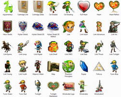 Legend Of Zelda Icon Package by sjg2008