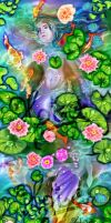 Mermaid in the lily pond by jiasen