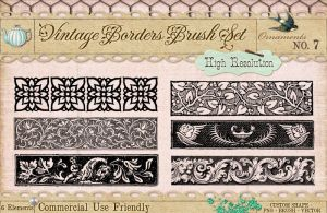 Ornament Borders No. 7 by starsunflowerstudio