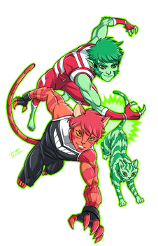 Vorpal meets Beast Boy by LucianoVecchio