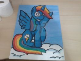 RAINBOW ALICORN DASH PAINTING - FINISHED!!!! by BiaApplePie