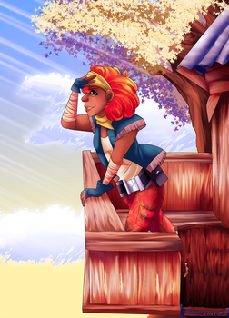 Dawn's treehouse by WinterGlace