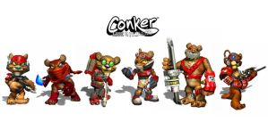 More Conker Characters by firecrow78