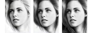 kristen stewart in progress (b~w) by LivieSukma