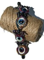 Glass eye bracelet prototype by copperrein