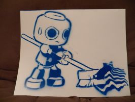 Servbot Stencil by InternationalTCK