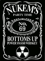 Duke Nukem Whiskey label by emptysamurai