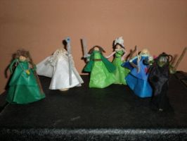 Lord of the Rings Peg People by TheWuzzy