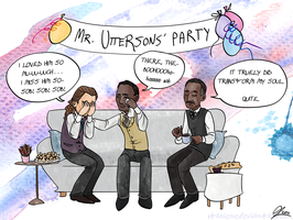 Christmas Cards 2/5: Mr. Uttersons' Party by Starlene