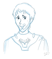 [Sketch] Renly Baratheon by starlite-decay