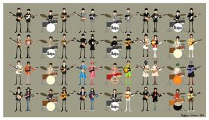 The Beatles Character Sheet by Cranimation