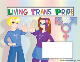 Living Trans Pride Poster by PandoraDawn