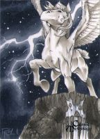 Pegasus Classic Mythology Sketch Card by RichardCox