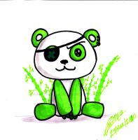 Green Panda by Yei-Pi