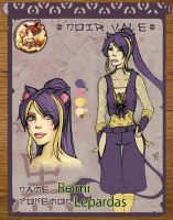 Reimi Character Sheet by Phaiyle