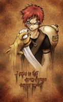 Gaara of the Sand by yuumei
