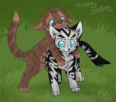 Brownpaw and Sharkpaw by Yolly-anda