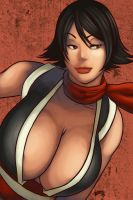 mai shiranui by funeralwind