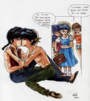 Ranma and Ryouga - kiss by Rhea-Batz