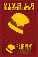 Flippin' Burgers Poster 2 by dalla-kun