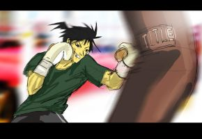 Left Hook by yujiandhisboa