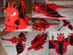 Giant Dragon Plush Commission - Blaze by Stitchfan