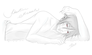 Sleep time with Sebastian by MissBlindly