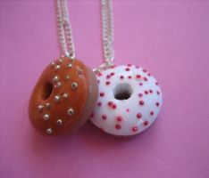 Donut Necklaces by ClayMyDay
