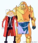 Adventure Time/Full Metal Alchemist Mash-up by catfaceme0wmers