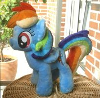 Handmade Rainbow Dash Plushie by HipsterOwlet