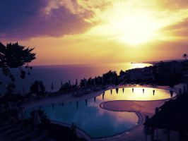 Sunset in Nea Moudania by theopening