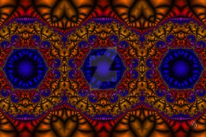 Moroccan Tile - Fractal Jewels Series by sssowers