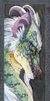 Dragon bookmark by hibbary
