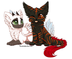 Two chibis by Yechii