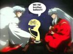 Inuyasha Sesshomaru and Cheese by Laurelio
