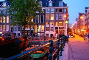 Amsterdam at Night II by goASK-alice